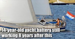 14-year-old Yacht Starter Battery Still Working 8 Years After Installing The Infinitum Desulfator