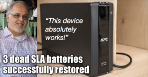 3 Dead Sealed Lead Acid Batteries Successfully Restored
