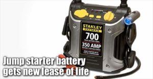 Stanley Fatmax Jump Starter Battery Receives New Lease Of Life