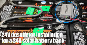 24v Desulfator Installation For A 24v Solar Battery Bank