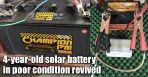 4-year-old Solar Battery In Poor Condition Revived