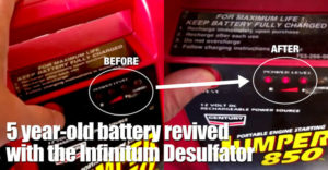 5 Year-old Battery Revived With The Infinitum Desulfator Holding Its Charge After A Week