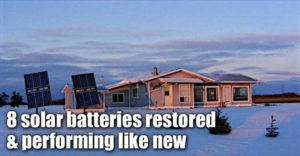 8 Solar Batteries Restored & Performing Like New