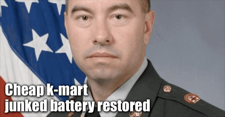 Cheap K-mart Junked Battery Restored