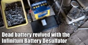 Dead Battery Revived With The Infinitum Battery Desulfator