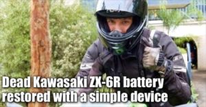 Dead Kawasaki ZX-6R Motorcycle Battery Restored With A Simple Device