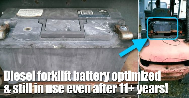 Diesel Forklift Battery Optimized And Still In Use Even After 11+ Years!