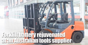 Forklift Battery Rejuvenated 