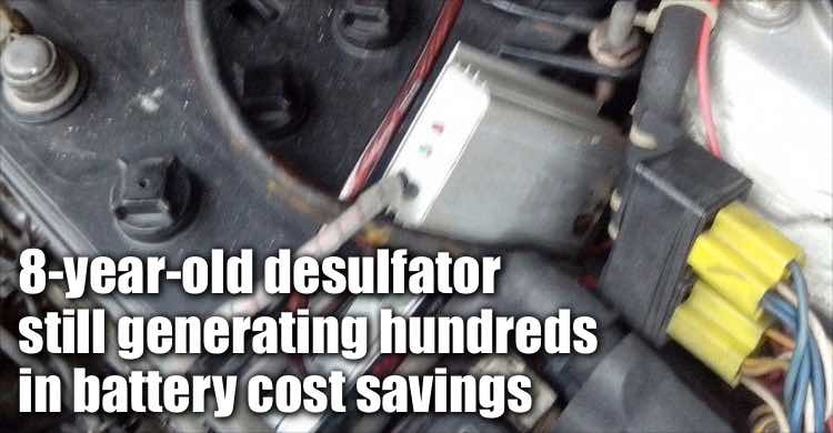 Infinitum Desulfator Purchased 8 Years Ago Still Generating Hundreds In Battery Cost Savings