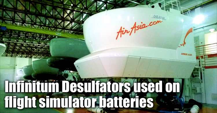 Infinitum Desulfators Used To Optimize Flight Simulator System Batteries