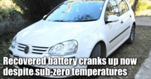Recovered Battery Cranks Up Now Despite Sub-Zero Temperatures