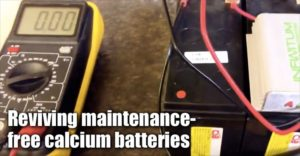 Reviving Maintenance-free Calcium Batteries