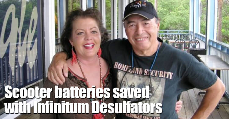 Scooter Chair Batteries Saved With Infinitum Desulfators