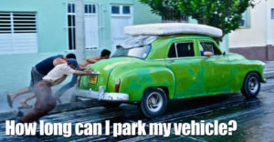 How Long Can I Park My Vehicle?