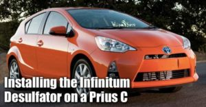 Installing The Infinitum Desulfator On A Toyota Prius C Battery