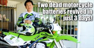 Two Dead Motorcycle Batteries Revived In Just 3 Days!