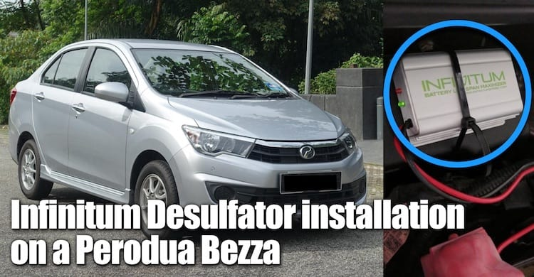 Infinitum installation on a Perodua Bezza